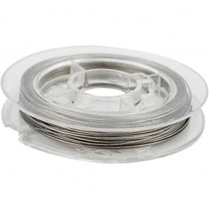 Metaaldraad zilver 0,38mm rol 10 meter