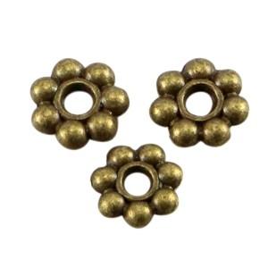 Metalen spacer bali ring 6mm brons