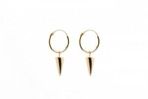 Minimalistische oorbellen hoops symbols cone 925 sterling zilver (goldplated)