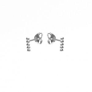 Karma minimalistische oorbellen symbols 5 balls 925 sterling zilver (per paar)