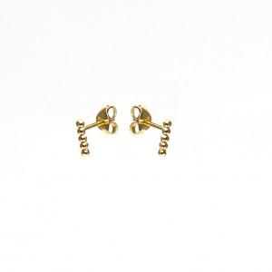 Karma minimalistische oorbellen symbols 5 balls goldplated (per paar)