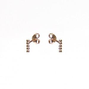 Karma minimalistische oorbellen symbols 5 balls roseplated (per paar)