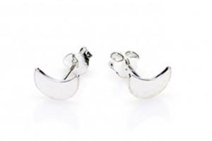Minimalistische oorbellen symbols half moon 925 sterling zilver