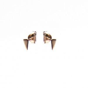 Karma minimalistische oorbellen symbols long triangle roseplated (per paar)