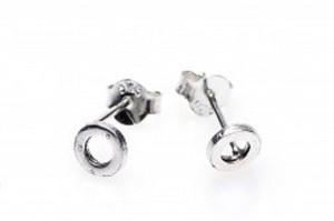 Minimalistische oorbellen symbols open circle 925 sterling zilver