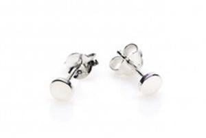 Minimalistische oorbellen symbols round 925 sterling zilver