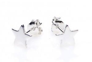Minimalistische oorbellen symbols star 925 sterling zilver