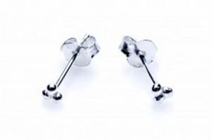 Minimalistische oorbellen symbols tresballs 925 sterling zilver