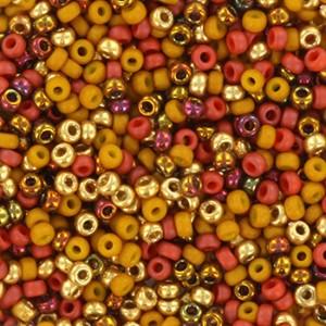 Miyuki rocailles 11/0 (2mm) 5 gram mix 28