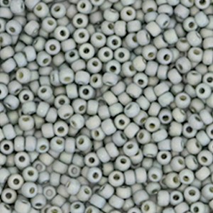 Miyuki rocailles 11/0 (2mm) 5 gram opaque glazed frosted rainbow cadet grey