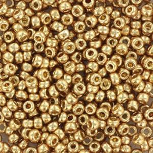 Miyuki rocailles 11/0 (2mm) 5 gram duracoat galvanized champagne