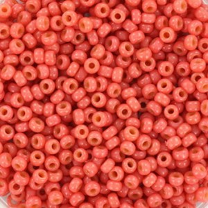 Miyuki rocailles 11/0 (2mm) 5 gram duracoat opaque light watermelon