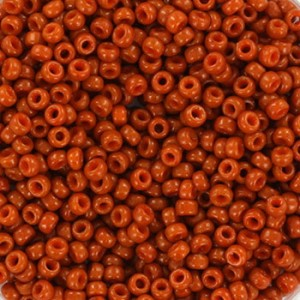 Miyuki rocailles 11/0 (2mm) 5 gram duracoat opaque persimmon