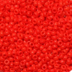 Miyuki rocailles 11/0 (2mm) 5 gram opaque vermilion red