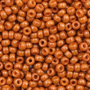 Miyuki rocailles 8/0 (3mm) 5 gram duracoat opaque persimmon brown