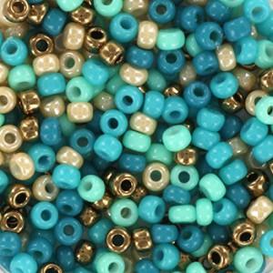 Miyuki rocailles 8/0 (3mm) 5 gram mix 12
