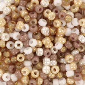Miyuki rocailles 8/0 (3mm) 5 gram mix 15
