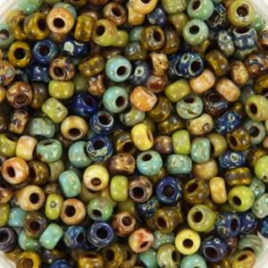 Miyuki rocailles 8/0 (3mm) 5 gram mix 25