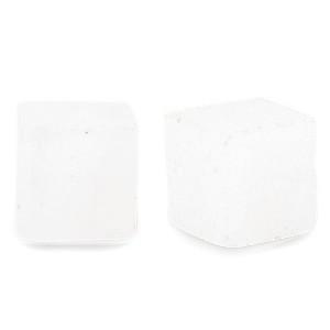 Natuursteen cube kralen vierkant 4mm crystal opal white
