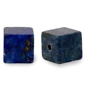 Natuursteen cube kralen vierkant 4mm dark blue