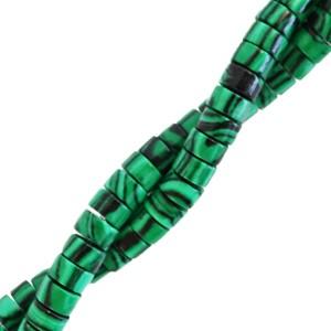 Natuursteen disc kralen rond 4mm marble eden green