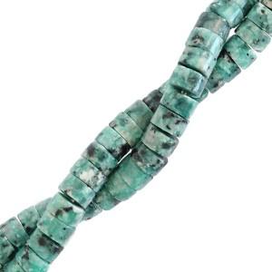 Natuursteen disc kralen rond 4mm marble reef green