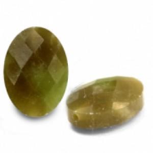 Natuursteen ovaal kralen 18x13mm light olive green