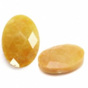 Natuursteen ovaal kralen 18x13mm mixed yellow