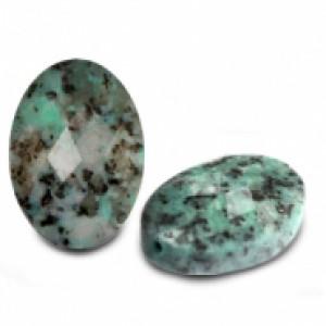 Natuursteen ovaal kralen 18x13mm turquoise blue