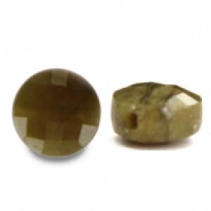 Natuursteen rond kralen 5mm light olive green