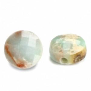 Natuursteen rond kralen 5mm light turquoise