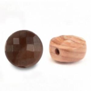 Natuursteen rond kralen 5mm rose brown