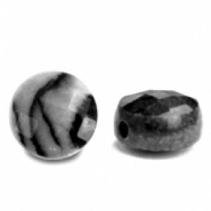 Natuursteen rond kralen 7mm black antracite