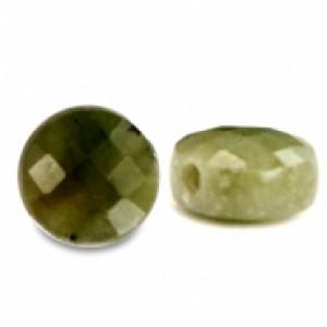 Natuursteen rond kralen 7mm olive green