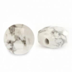 Natuursteen rond kralen 7mm white marble