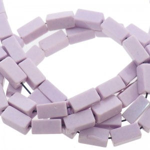 Natuursteen tubekralen lila 9x4mm