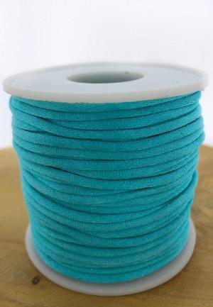 Nylondraad/ stevig satijnkoord rond 2.5mm turquoise (per meter)