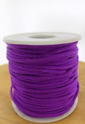 Nylondraad/ stevig satijnkoord rond 2.5mm violet (per meter)