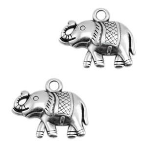 bedel-olifant-18x15mm-zilver