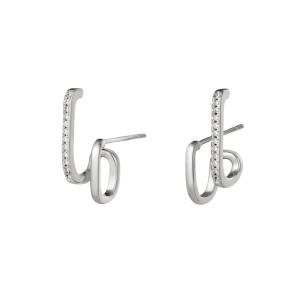 Oorbellen etcetera zilver stainless steel per paar