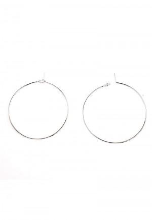 Oorbellen grote ring zilver 40x35mm (per paar)