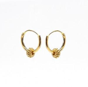 Oorbellen hoops symbols bali 1 goldplated 12mm (per paar)