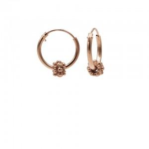 Karma oorbellen hoops symbols bali 1 roseplated 12mm (per paar)
