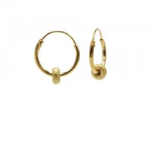 Karma oorbellen hoops symbols bali 2 goldplated 12mm (per paar)