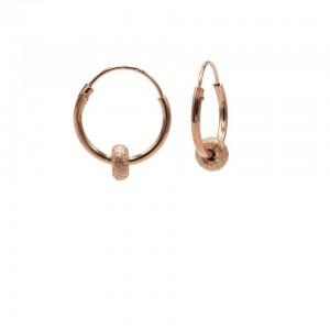 Karma oorbellen hoops symbols bali 2 roseplated 12mm (per paar)