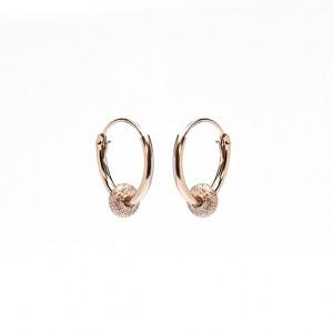 Oorbellen hoops symbols bali 2 roseplated 12mm (per paar)