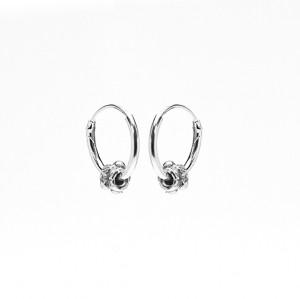 Karma oorbellen hoops symbols bali 3 925 sterling silver 12mm (per paar)