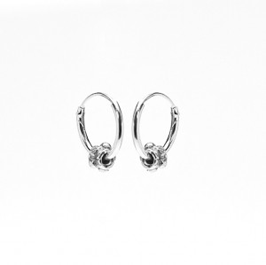 Oorbellen hoops symbols bali 3 925 sterling silver 12mm (per paar)
