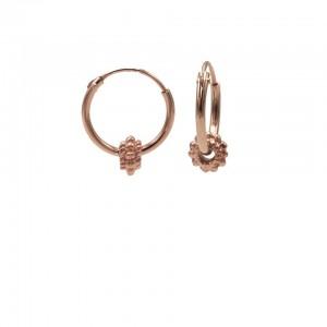 Karma oorbellen hoops symbols bali 3 roseplated 12mm (per paar)