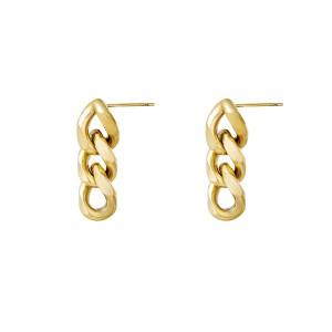 oorbellen-triple-chain-goud-stainless-steel-30mm